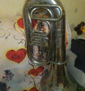 Труба Духовая Туба медная в никеле h-98см