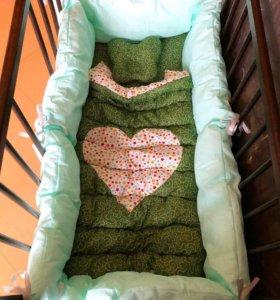 Бортики в кроватку набор новый!!