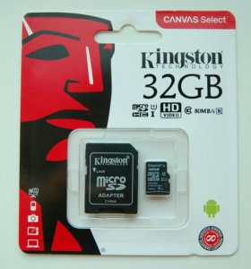 Новая Micro SD карта Kingston 32 Gb