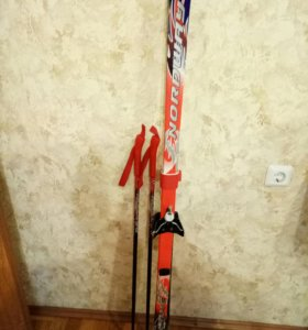 Комплект лыжи+палки+ботинки р.31-32