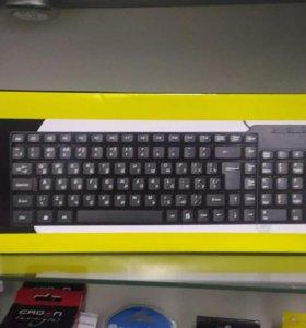 Новая Клавиатура+Мышь ritmix RKC-010