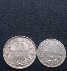Серебряные Монеты оккупированной Финляндии