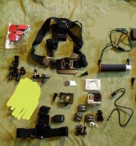 Экшен-камера GoPro HERO 4 Black + куча креплений
