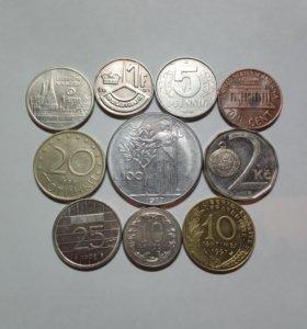 Иностранные монеты (10 штук)