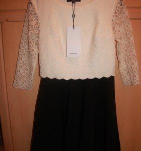 Платье беж/черное,XS,40-42