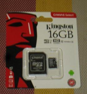 новая карта памяти на 16 гигабайт класс 10