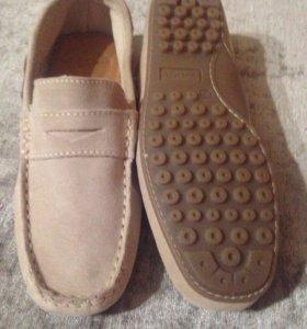 Туфли для мальчика из натуральной замши 34р,новые
