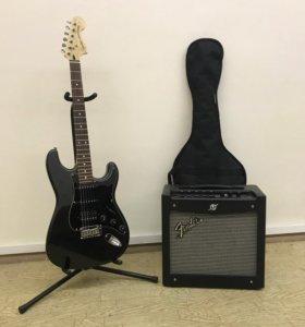 Комплект Fender: Электрогитара с комбиком