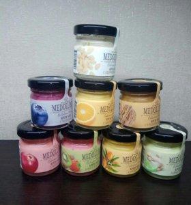 Крем-мёд подарочный 40мл разные вкусы