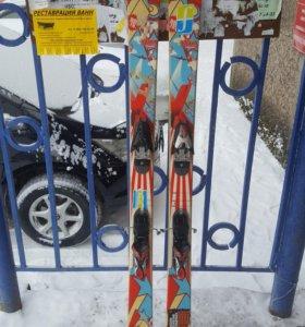 Продам комплект лыж Rossignol с крепами (ньюскул)