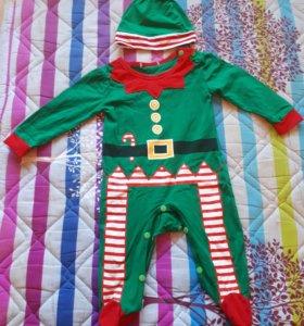 Детский костюм эльфа на Новый год