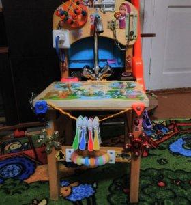 Бизиборд-развивающий стул для детей с 8 мес