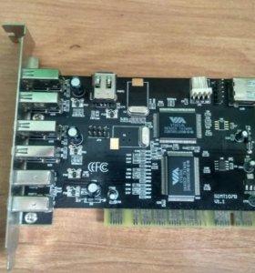 Плата расширения USB SIMT107B PCI