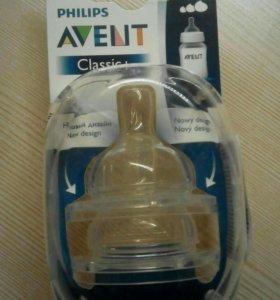 Соски для бутылочки авент классика