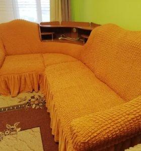 Новый чехол на любой угловой диван