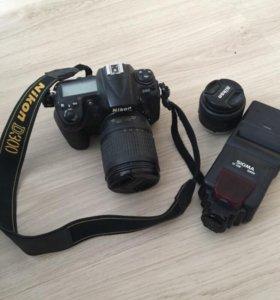 Nikon d300 вспышка 2 объектива