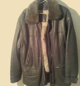 Натуральная кожанная зимняя куртка