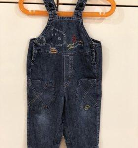 Комбинезон джинсовый р 81-86