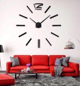 Часы настенные бескаркасные 3D