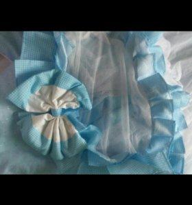 Одеяло на выписку + балдахин на кроватку