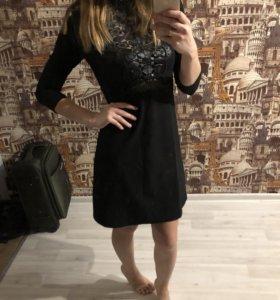 Чёрное платье мини