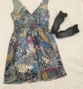 Новое платье с растительным принтом