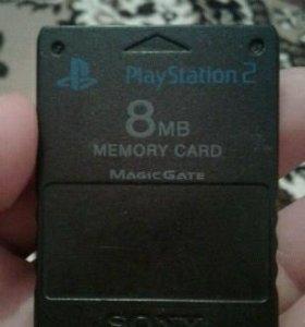 Карта памяти 8MB для PS2