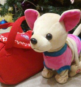 Интерактивная Собачка Chi Chi Love в сумочке