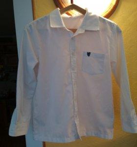 Белая рубашка на мальчика 10 лет. Хлопок.