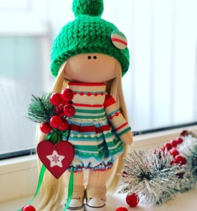 Кукла, подарок, интерьер, Новый год