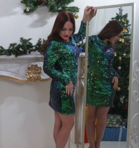 Платье блестящее 👗 идеально на Новый год 🎄