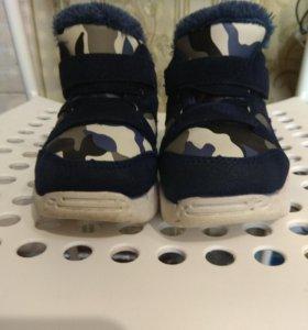 Зимние ботиночки на мальчика, 21-й размер