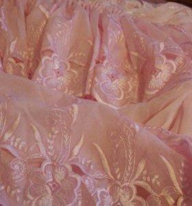 Розовая штора(занавеска)
