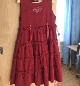 Вельветовое платье 128 р.