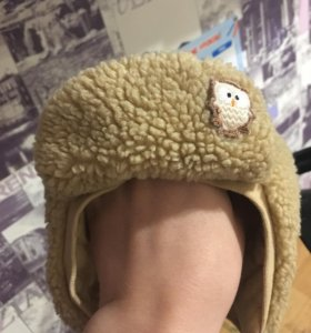 Прикольная утеплённая шапочка Кроха 42 см