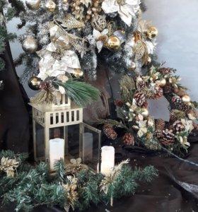 Аренда ёлок и новогоднего оформления Дмитров