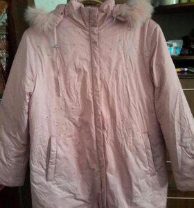 Новая куртка-пуховик 52-54