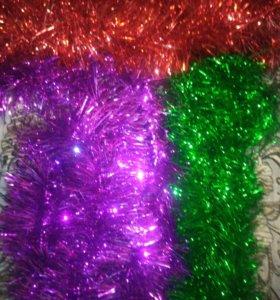 Новогодняя мешура на елку