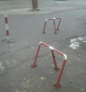 Парковочные ограждения.