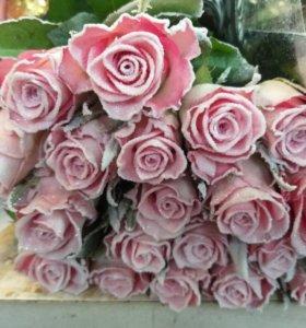 Роза, хриза, эустома, гербера и тд