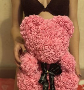 Мишка из роз