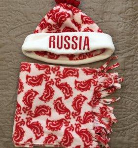 Продаю шапку и шарф Bosco sport. Оригинал. Новое.