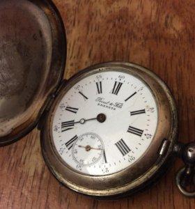 Серебряные карманные часы Perret & Fils Brenets