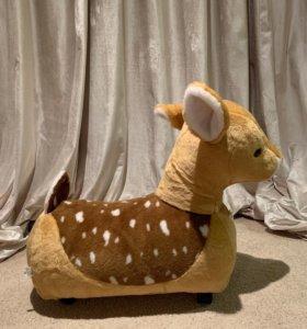 Игрушка-каталка на колесиках Оленёнок