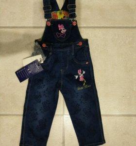 Новый джинсовый комбинезон для девочки 80 размер