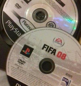 Игры на playstation 2 Fifa 07 и fifa 08