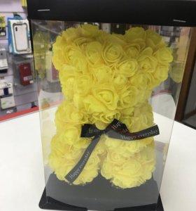 Мишки из 3D роз в подарочной упаковке