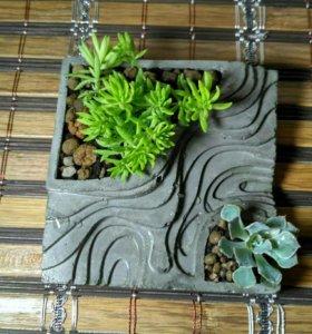 Горшочки из бетона