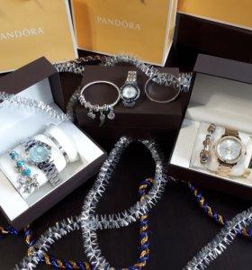 Комплект Pandora часы + 2 браслета