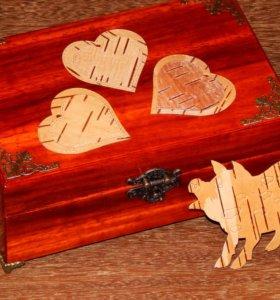 Сделаю шкатулку из массива красного дерева